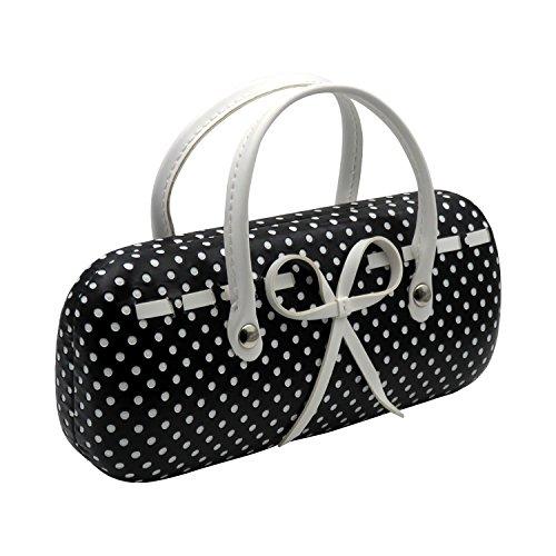 Eyeglasses Mini Handbag Case for Medium Frames- Girls Women - AS12TG Small Dots - Sunglasses Handbags