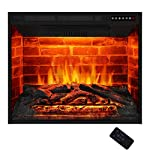 """Antarctic Star 30"""" Electric Fireplace Insert Freestanding Heater with Remote Control Touch Screen Multicolor Flame Rome Space Timer 750w/1500w Black"""