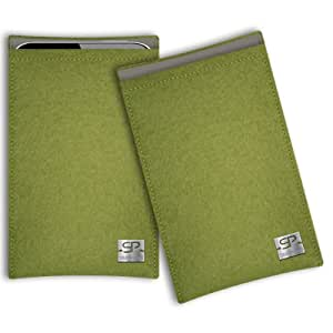 SIMON PIKE Cáscara Funda de móvil Boston 7 verde Asus Fonepad 7 ME372CG Fieltro de lana