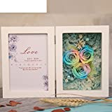 European live roses picture frame Eternal flower gift box Birthday gift-E