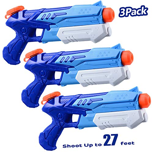 HITOP Water Guns for Kids 2 Pack Super Soaker Water Blaster Squirt Guns 300CC Toy Summer Swimming Pool Beach Sand Outdoor Water Fighting Play Toys Gifts for Boys Girls Children (3 Pack)