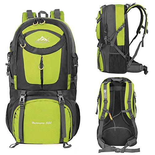 Escursionismo Verde Zaino Con Vbiger 60l Impermeabile Parapioggia Montagna Trekking Alpinismo Uomo FwOTqZ0