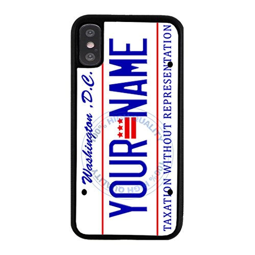 - BleuReign Personalized Washington DC License State Plate Rubber Phone Case for Apple iPhone X Xs Ten