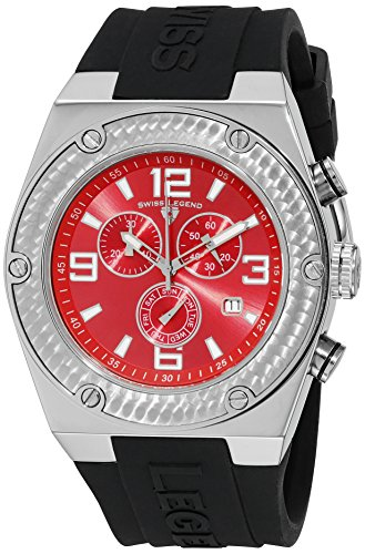 Swiss Legend Throttle - Swiss Legend Men's 30025-05 Throttle Chronograph Red Dial Watch