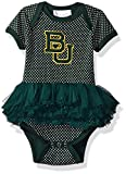 Two Feet Ahead NCAA Baylor Bears Children Girls Pin Dot Tutu Creeper,6 Mo,Green