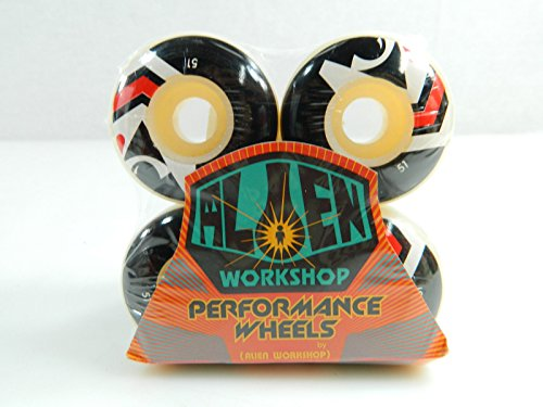 Alien Workshop 51mm Classic White Skateboard - Wheels Workshop Alien