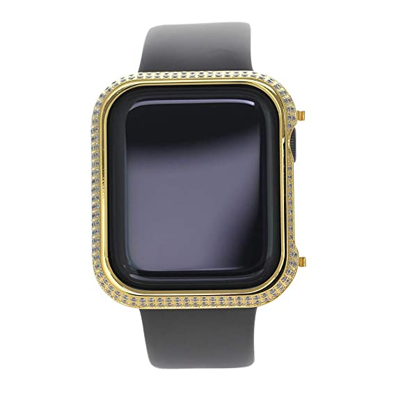 best website d0474 b42b8 Fundisinn Metal Rhinestone Diamond Crystal Jewelry Bezel Cover Case for  Apple Watch 4 Aluminum iWatch Protective Protector Compatible Apple Watch  ...
