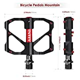 """INTEY Mountain Bike Pedals 9/16"""" Screw Thread Spindle Aluminum CNC Sealed Bearing Road Bike Pedals"""