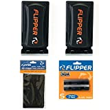 Flipper Standard 2 In 1 Magnet Aquarium Algae Cleaner (Glass or Acrylic) TWO PACK w/Replacement Blades and Pads Bundle