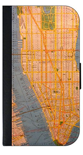 NYC Subway Map Wallet Style Phone Case - Apple iPhone 4/4s/5/5s/5c/6/6s/6+/6s+/7/7+/8/8+ Select Your Compatible Phone Model