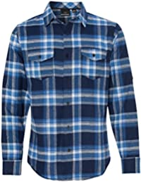 Mens Long Sleeve Button Down Flannel Shirt B8210