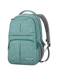 Doleesune 8459 Water Resistant Nylon Backpack College School Bag (Green)
