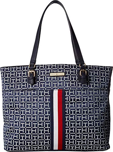 Tommy Hilfiger Women's Mira Shopper Jacquard Navy/White One Size