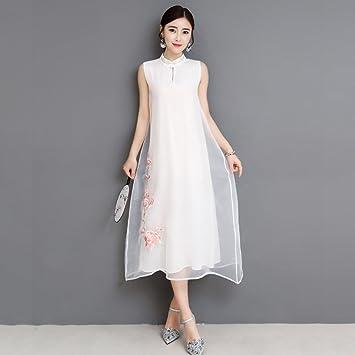 Vestido de mujer Vestido de noche chino de manga corta Cheongsam Qipao Vestido de noche Nuevo
