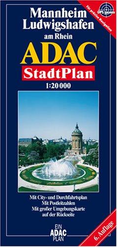ADAC Stadtplan Mannheim, Ludwigshafen am Rhein Landkarte – Folded Map, März 2007 Collectif MAIRDUMONT 3826402855 Deutschland