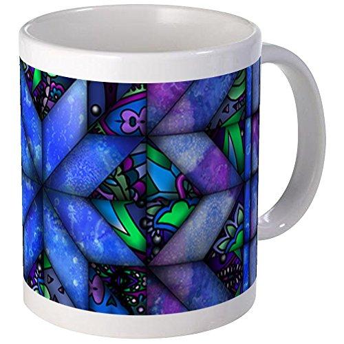 CafePress - Blue Quilt Mugs - Unique Coffee Mug, Coffee Cup