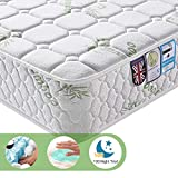 Lv. life King Size Bamboo Fiber Mattress, 5FT King Size Pocket Sprung and Memory Foam Mattress Pressure Relief with 9-Zone Support System - 100 Nights Trial