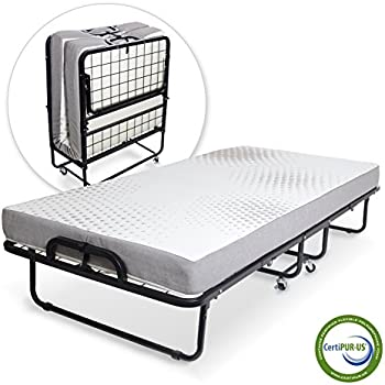 Amazon Com Lucid Rollaway Guest Bed With Memory Foam