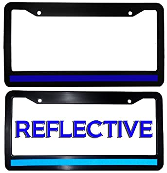 Amazon.com: Thin Blue Line License Plate Frame: Automotive
