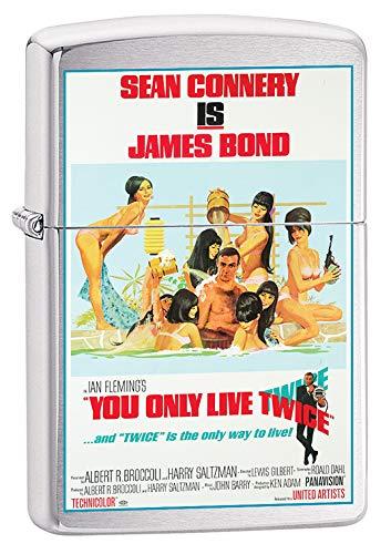 Zippo Lighter: James Bond, You Only Live Twice - Brushed Chrome 79674