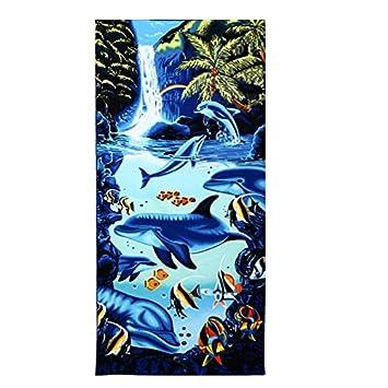 Toalla de microfibra súper absorbente, para playa, baño, piscina, spa, Microfibra, Falls, 150*70cm: Amazon.es: Hogar