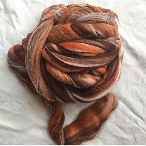 Maslin 70s Australia Combed 100% Wool Fiber Merino DIY Wool for neddles Felting 50g 100g 200g 300g 500g 1000G NO.113 - (Color: 1000G)
