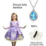 Princess Sofia Ncklace Teardrop Light Blue Pendant Necklace Fashion Jewelry Gift for Girls,Sofia the First Amulet by LEECCO