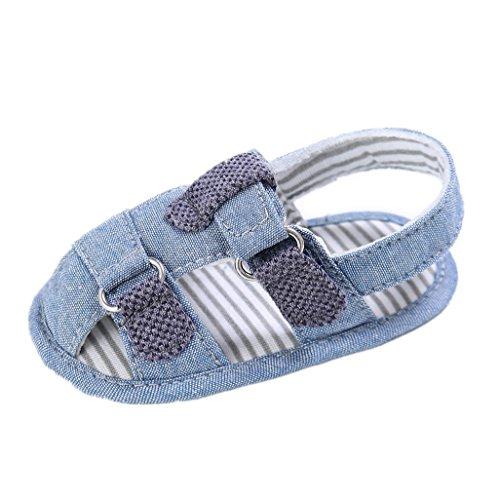 Bebé Prewalker Zapatos Auxma El niño de las sandalias de los muchachos de los bebés friega los primeros zapato de la zapatilla de los caminante para 3-6 6-12 12-18 meses Azul