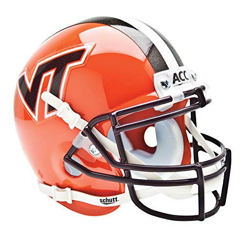 (NCAA Virginia Tech Hokies Collectible Alt 4 Mini Helmet, Orange)
