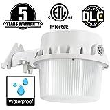 LED Yard Light,35W(Photocell Included),LED Dusk to Dawn(250W Equiv.),3000K Warmlight Floodlight, DLC & ETL-Listed Yard Light for Area Lighting, Wet Location Available, White Housing 30K1PK