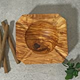 Ashtray Olive Wood, square shape, massive, hand crafted - Best Reviews Guide