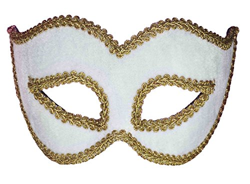 Forum Novelties Women's Velvet Masquerade Mask, White, One Size