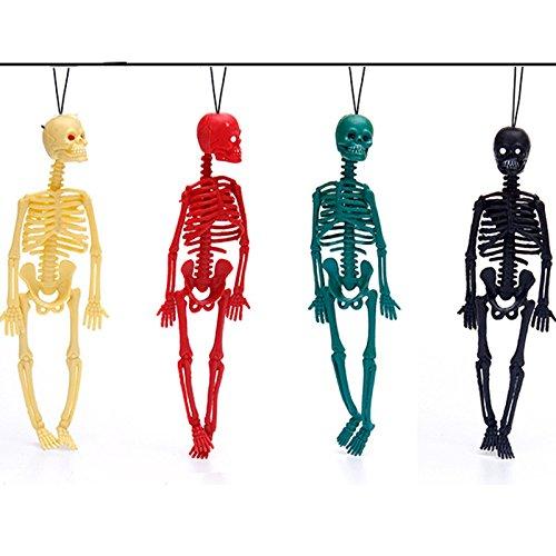 Katoot@ 4pcs New 20cm scary Halloween toys tricky toys children's toys skeleton skeleton model,key buckle,action figure,Fun toys ()