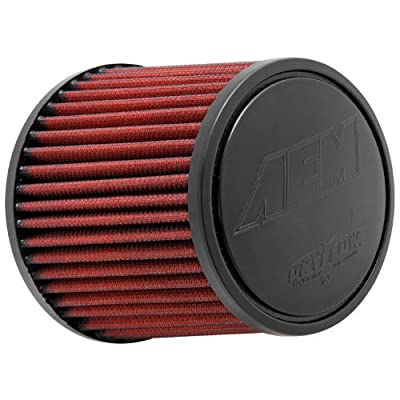 AEM 21-2011DK Universal DryFlow Clamp-On Air Filter: Round Tapered; 2.5 in (64 mm) Flange ID; 5 in (127 mm) Height; 5.5 in (140 mm) Base; 4.75 in (121 mm) Top: Automotive