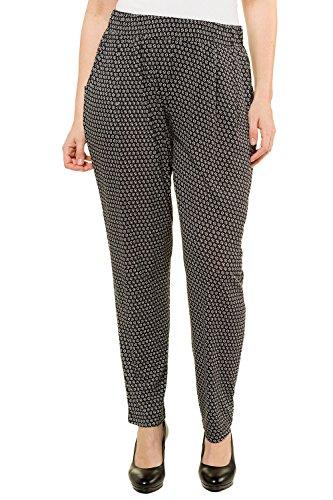 Ulla Popken Women's Plus Size Pleat Front Knit Pants Multi 32/34 718275 90 (Kameez Trouser)