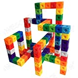 AWESOME Unlimited Creation Cubes 100 Piece Snap Unit Cubes Centimeter Cube and Interlocking Building Set STEM Toy | Promote Color Sorting & Math Counting Skills