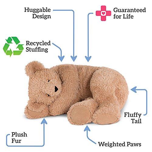 Vermont Teddy Bear Giant Cuddle Buddy Bear, 3 Feet Long, Brown Durable  Service