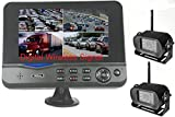 4Ucam TWO Digital Wireless Camera + 7'' Monitor Quad-view Split screen for Bus, RV, Trailer, Motor Home, 5th Wheels and Trucks Backup or Rear View