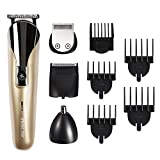 #8: BESTOPE Beard Trimmer 8 in 1 Men's Grooming Kit with 13 Attachments, Facial Nose and Head Hair Cutter Trimming, Cordless Rechargeable Hair Clippers Set