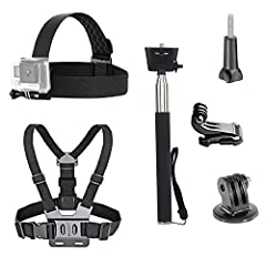 VVHOOY Head Strap & Chest Strap Mount, Thumbscrew,Selfie Stick,Tripod Mount,J-hook are compatible with many action camera, fully adjustable to fit most sizes Why Choose VVHOOY Action Camera Accessories Kit Let's say you love to surf, scub...