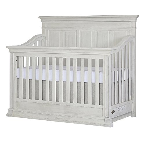 Evolur Napoli 5-in 1 Convertible Crib, Antique Grey - Antique White Crib
