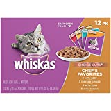 WHISKAS CHOICE CUTS Chef's Favorites Variety Pack Wet Cat Food 3 Ounces (Box Of 4, 12-Count Each)