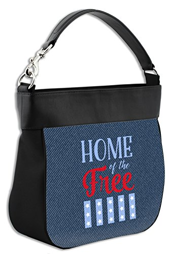 amp; w Purse Leather Hobo Personalized American Genuine Quotes Back Trim Front tpZqx8