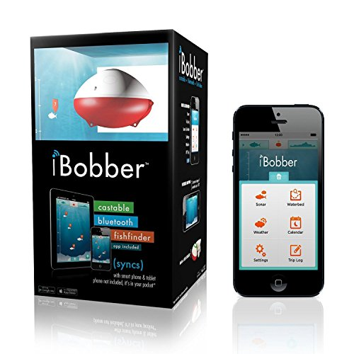 (ReelSonar CGG-MY-IBOBBER iBobber Wireless Bluetooth Smart Fish Finder for iOS and Android devices.)