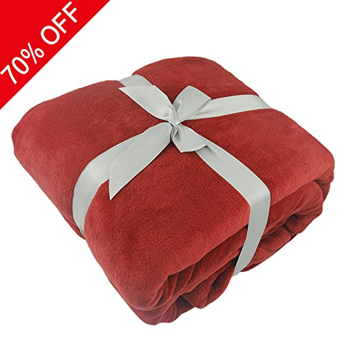 Luxury Fleece Blanket, Somewhere 300 GSM Super Soft Warm Fuzzy Lightweight Bed or Couch Blanket,Perfect Gift-Twin, Red (300 Costume Ideas)