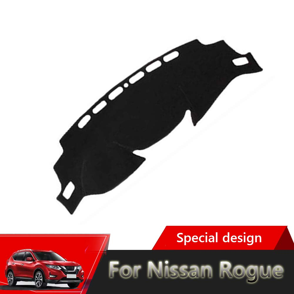 Reduces Glare 2014-2019 Dash Cover Easy Installation Great-luck High quality Dashboard Cover Mat Custom Fit Dashboard Protector Eliminates Cracking for Nissan Nissan Rogue