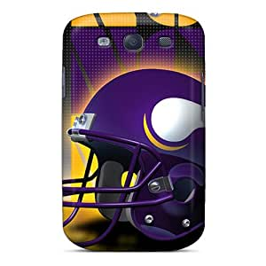 Galaxy S3 Case Slim [ultra Fit] Minnesota Vikings Helmet Protective Case Cover