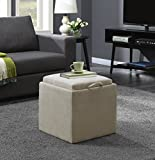 Convenience Concepts 143010FSBG Designs4Comfort Ottoman, Soft Beige Fabric Review