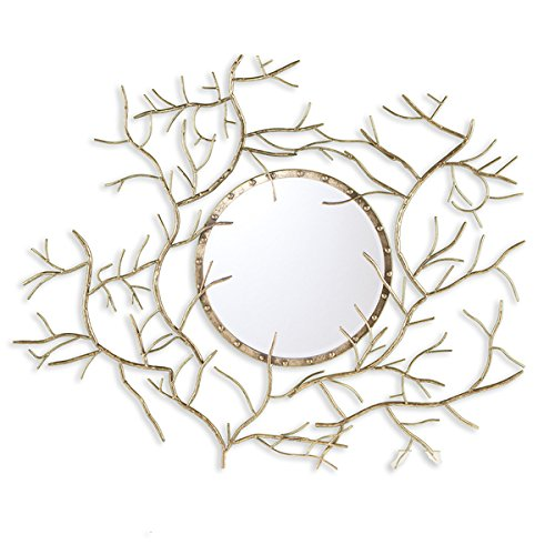 Upton Home Round Branch Mirror, Gold