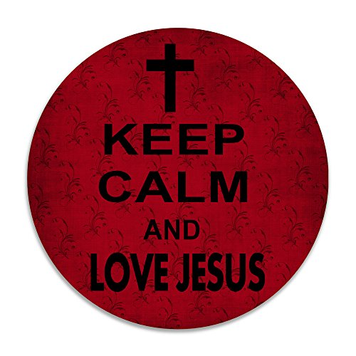 [DonSir Keep Calm Love Jesus Home Round Bathroom Kitchen Floor NonSlip Mats] (Tim Drake Costume)